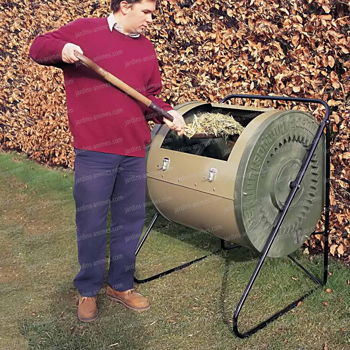 composteur tambour 340litres composteur de jardin. Black Bedroom Furniture Sets. Home Design Ideas
