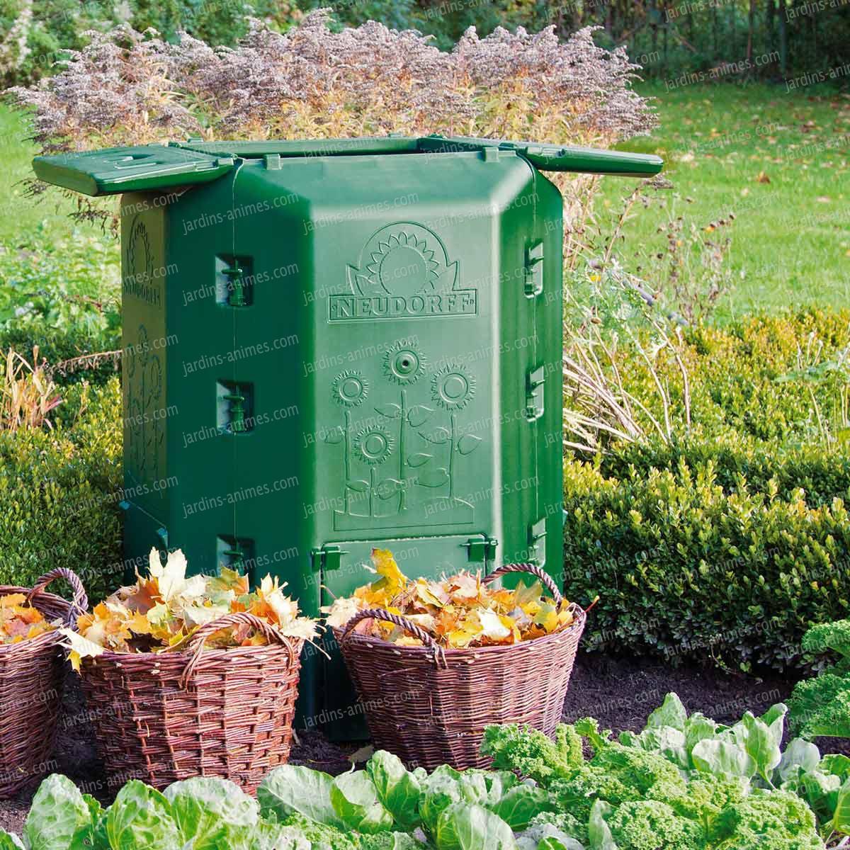 Thermo composteur 530l double coque composteur de jardin for Jardin anime
