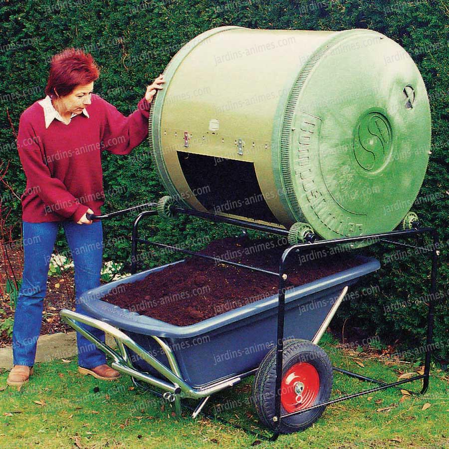 Composteur Bois Pas Cher : Composteur Bois 800l En Pin Traité Thermo Composteur 470l Double
