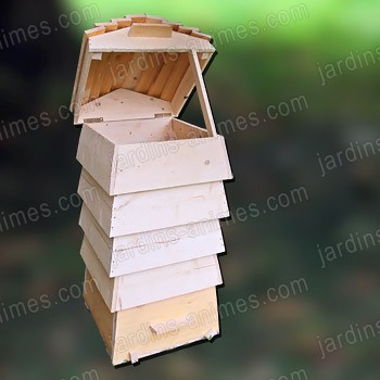composteur ruche bois fsc composteur de jardin. Black Bedroom Furniture Sets. Home Design Ideas