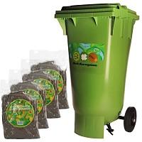 Conteneur 120L compost Bokashi + 4 sacs de 2kg de son