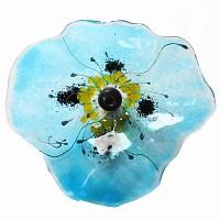 Fleur Coquelicot BLEU transparent