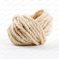 Cordelette fine laine de mouton - Blanc naturel 10m x 0.5cm