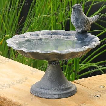 Mangeoire oiseau coupelle mangeoires bains d 39 oiseaux for Mangeoire sur pied pour oiseaux du jardin