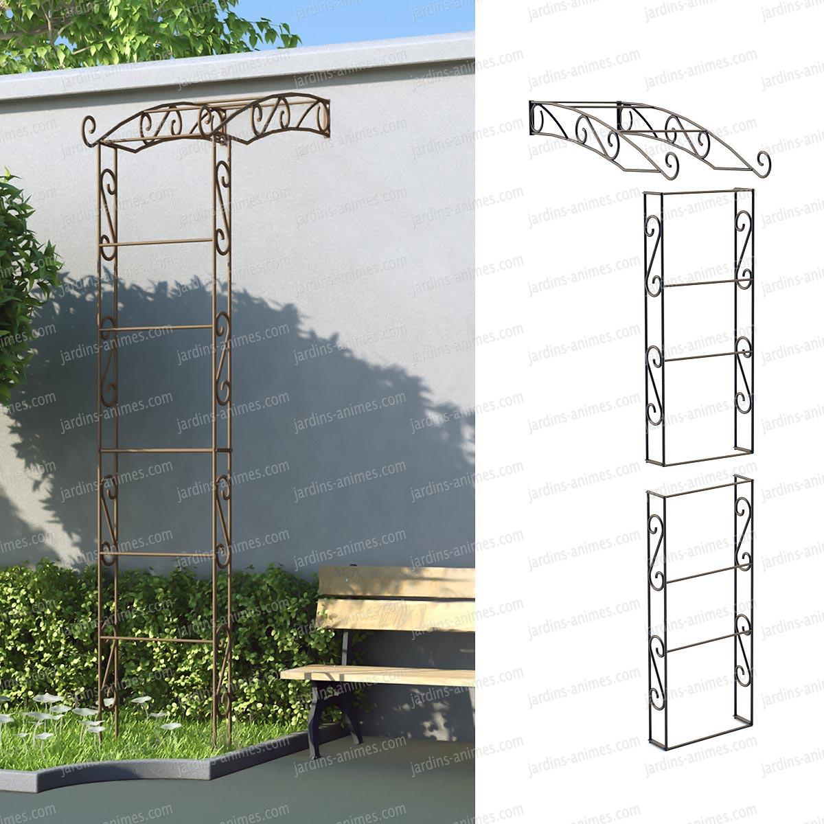 Demi arche adoss e arches kiosque et marquise for Fabriquer une arche de jardin