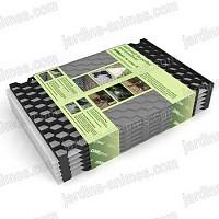 Plaque stabilisation gravier NOIR 57.5cmx40cm xhaut.18mm, lot de 6 = 1.38 m2 100% recyclé