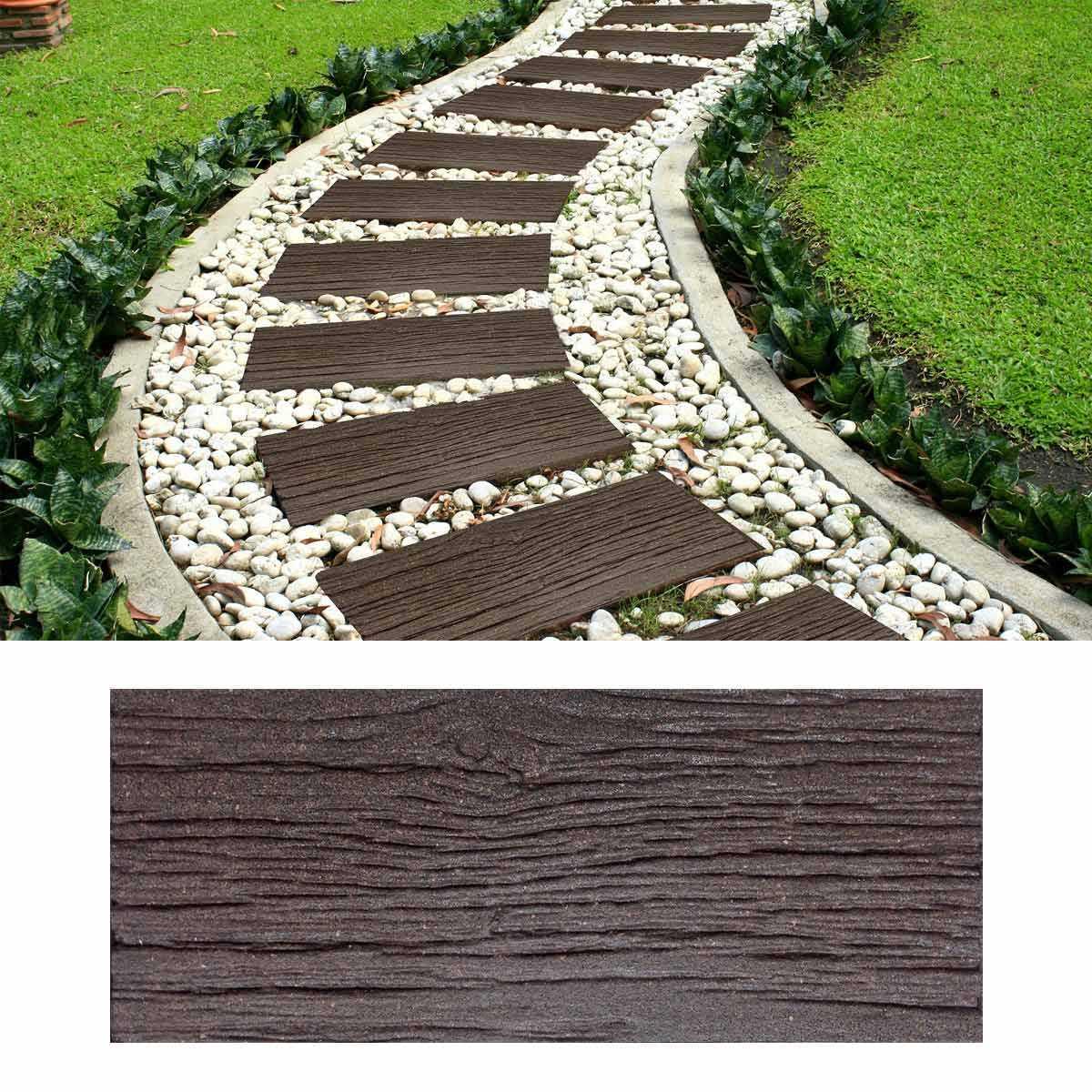 Dalle Extérieure Imitation Bois Caoutchouc Recyclé 25x60cm