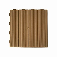 Dalle plastique marron clair 28x28cm - lot de 4