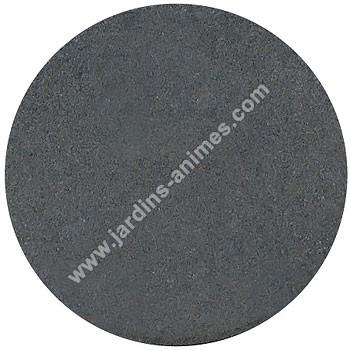 Dalle ronde caoutchouc recycl gris all e chemin gravier - Dalles pvc autocollantes pas cher ...