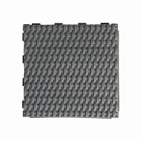 Dalle plastique tressée gris ardoise 28x28cm - lot de 4
