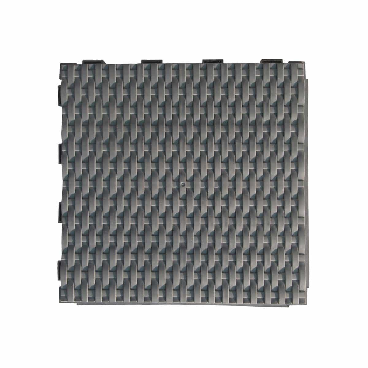 Dalle plastique tress e gris ardoise 28x28cm lot de 4 for Dalle jardin gris