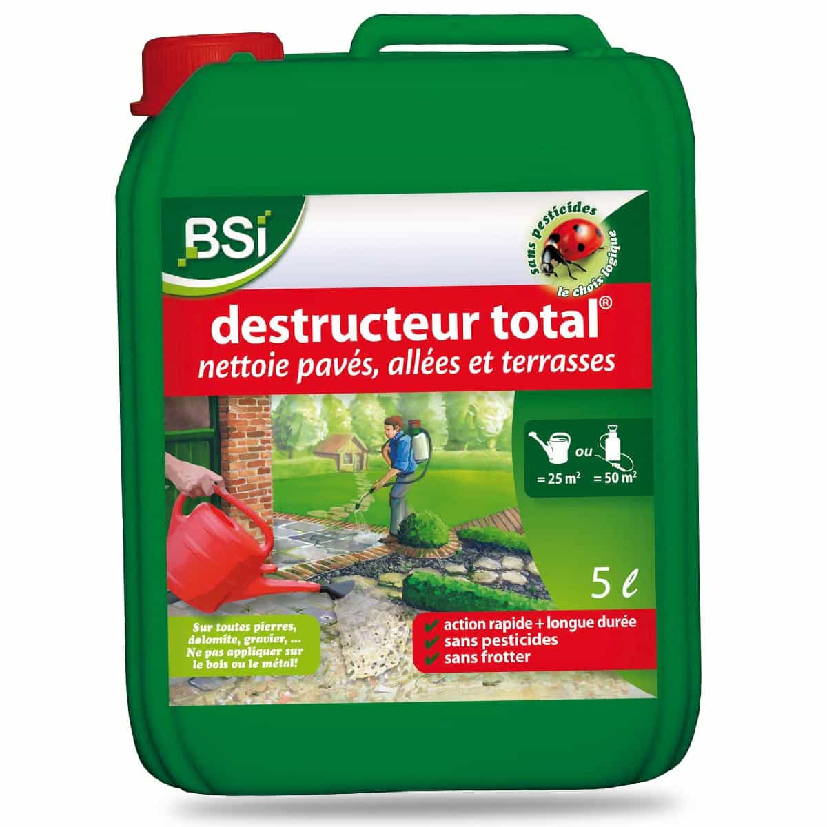 Destructeur total 5l nettoyage all es d sherbant antimousse naturel - Desherbant naturel efficace ...