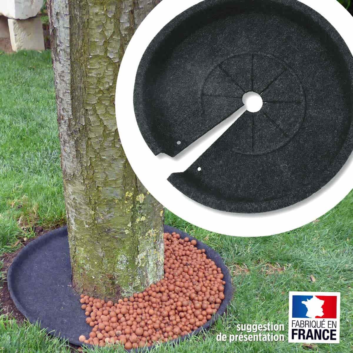 Disque pour habiller le pied des arbustes 100 recycl for Anti chat jardin