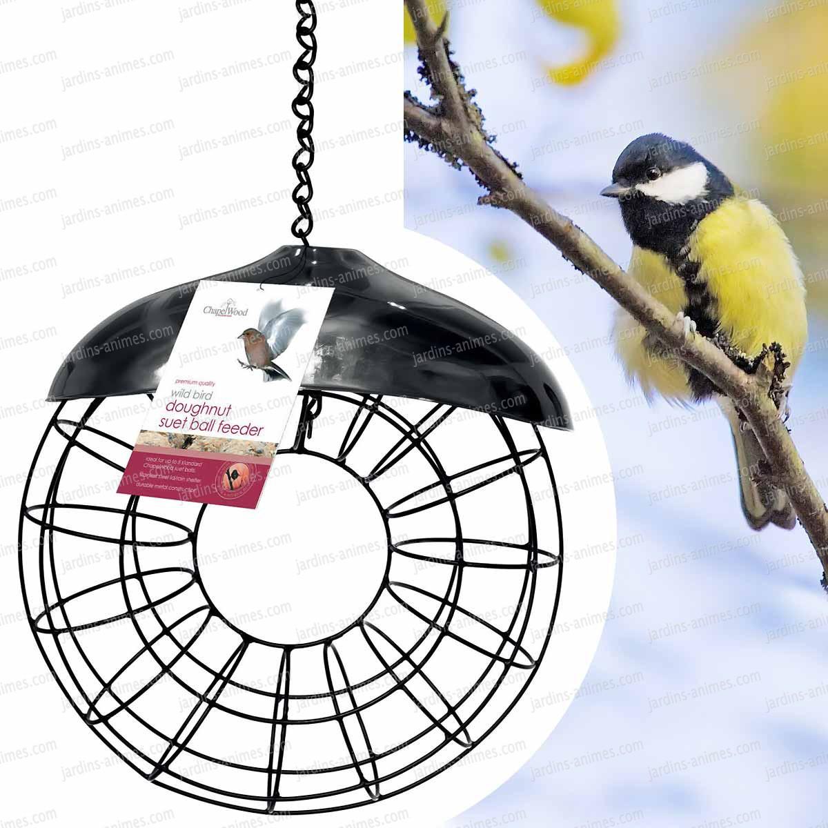 Distributeur rond de boules de graisse pour oiseau - Boule de graisse oiseau ...