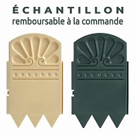 Echantillon bordurette plastique : 1x VERT et 1x PIERRE