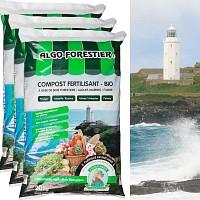 Algo-Forestier - compost fertilisant - lot de 3 sacs