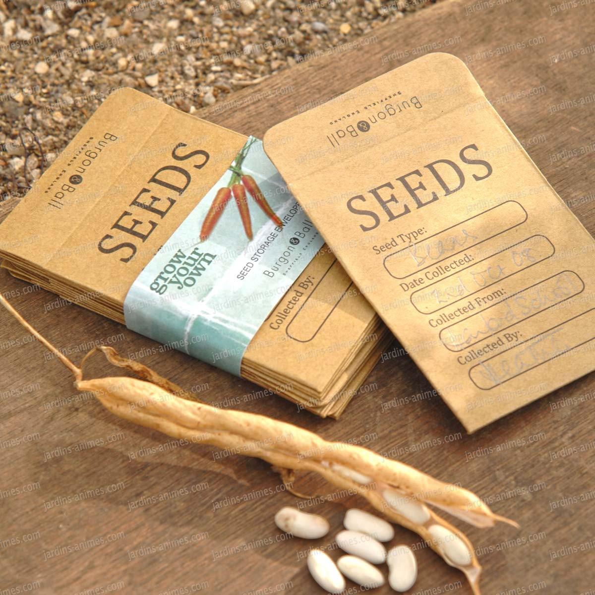 enveloppe kraft semis et graines pack de 20 accessoires de culture semis. Black Bedroom Furniture Sets. Home Design Ideas