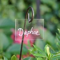 Etiquette jardin plexiglas transparent