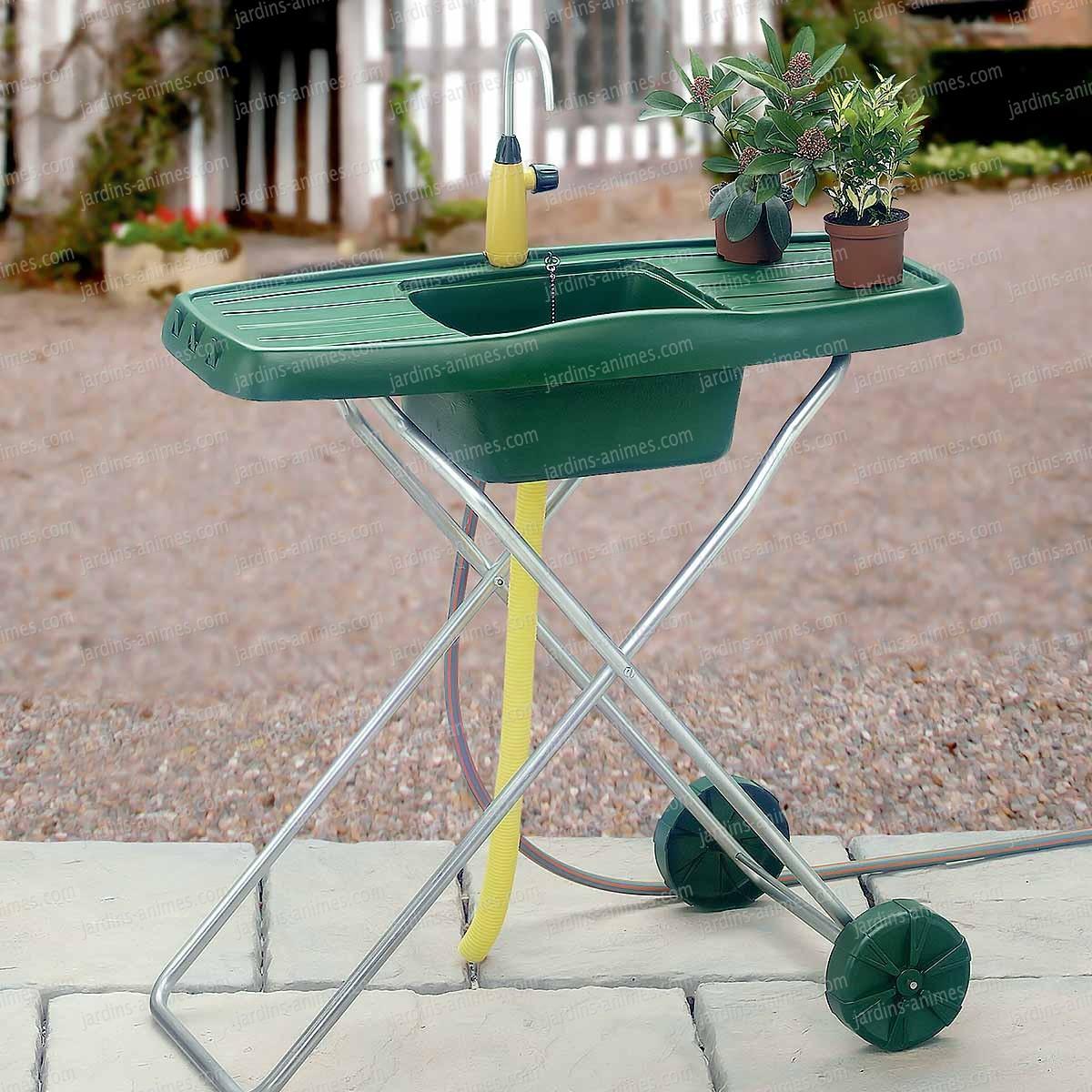 Evier d 39 ext rieur de jardin mobile mobilier de jardin for Robinet pour jardin