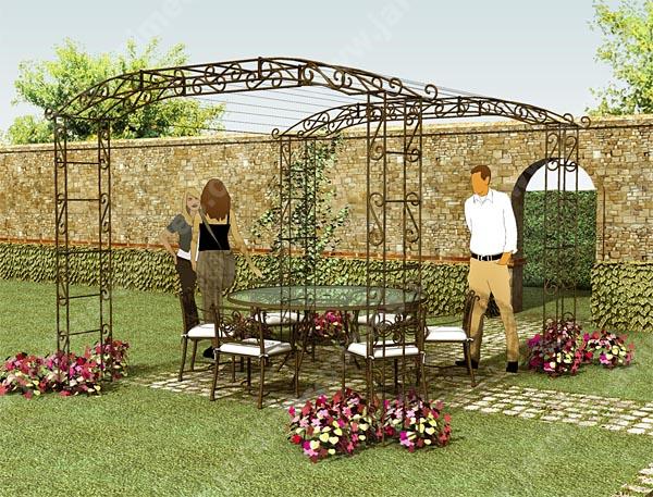 Pergola arche jardin - Arche metallique jardin ...