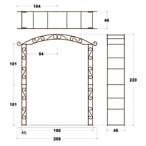 Arche de jardin pagode arches kiosque et marquise for Arche de jardin fer forge