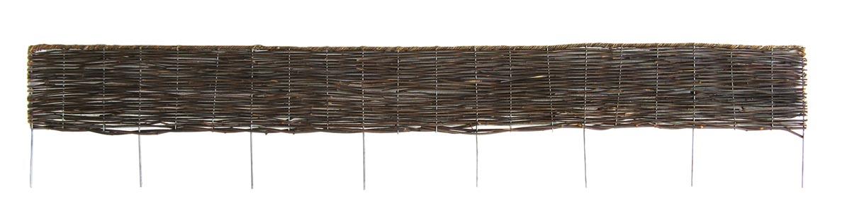 Bordure pliable rotin 180cm bordure de jardin for Bordure en bois tresse