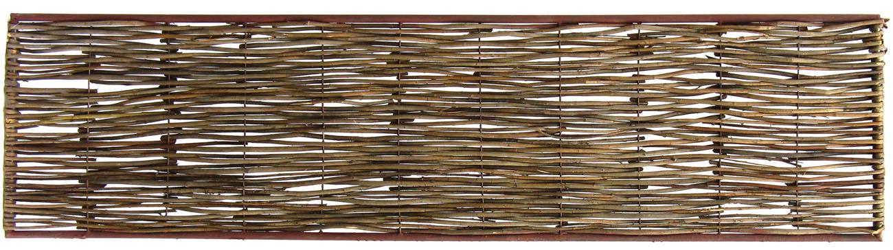 Bordure m di vale bois acacia cadre m tal tige bordure de jardin - Bordure de jardin metal ...