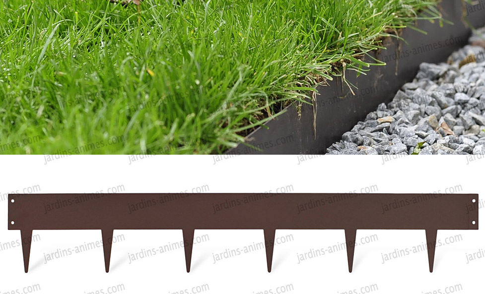 Bordurette m tal acier 1m fran ais bordurette gazon for Bordure metal pour jardin