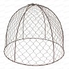Cloche de protection en grillage à poule haut.36cm - lot de 2