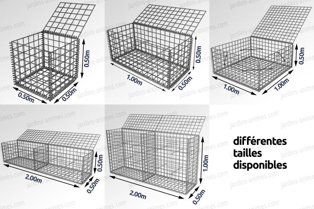 gabion cage m tallique gabion mur et cage. Black Bedroom Furniture Sets. Home Design Ideas