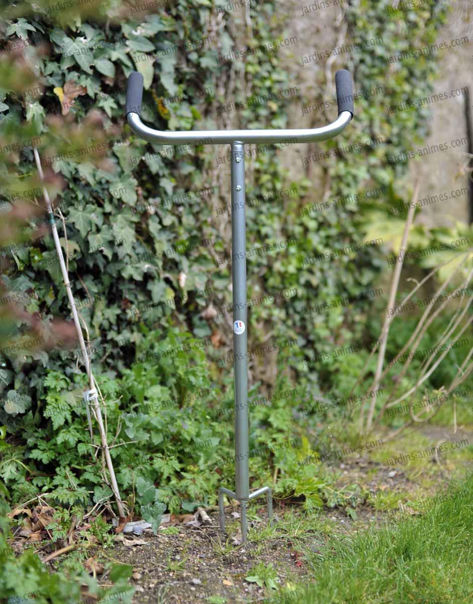 Griffe 3 dents t l scopique outil de jardin ecologique - Retourner la terre pour pelouse ...