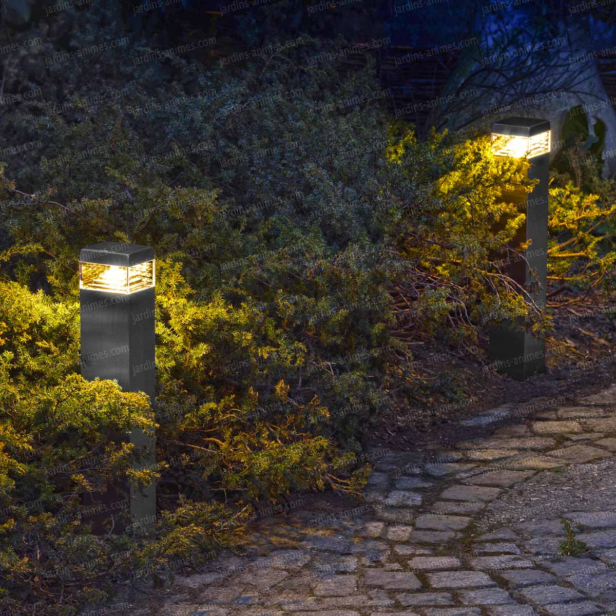 Syst me clairage ext rieur led 12v basse tension for Luminaire allee jardin