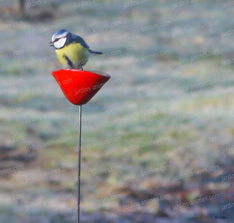 Coquelicot rouge c ramique sur tige x5 for Objets decoratifs de jardin