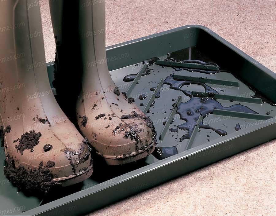 plateau gouttoir pour bottes chaussures paillasson. Black Bedroom Furniture Sets. Home Design Ideas