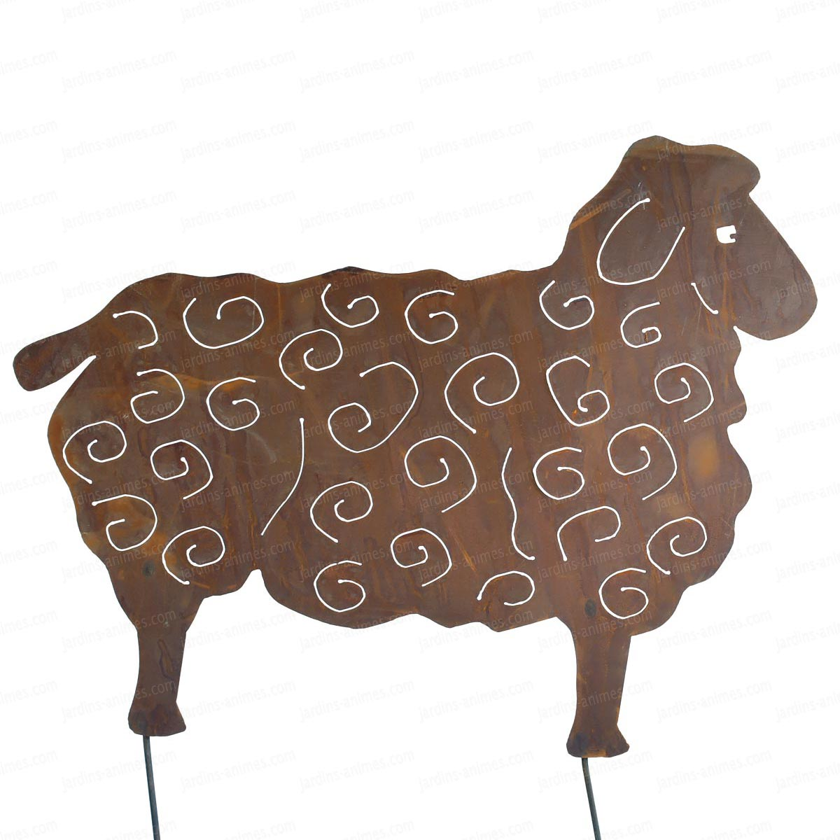 Silhouette mouton au choix d co de jardin en m tal for Decoration de jardin en metal