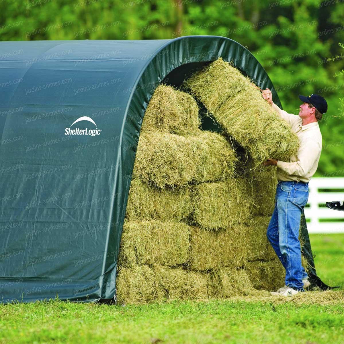 Abri en toile pour chevaux de larg x long animaux de compagnie - Abri jardin en toile metz ...