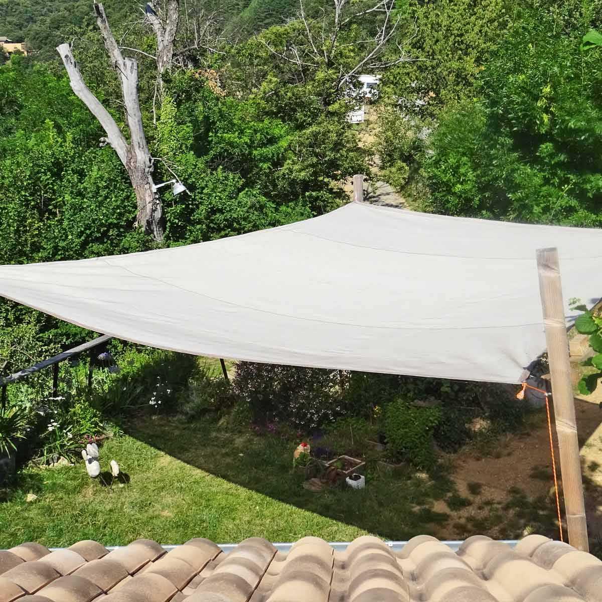 Voile D Ombrage Veranda voile d'ombrage - filet de protection plantations et terrasse