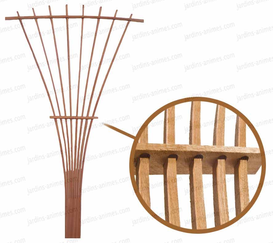 treillage eventail bois fsc france treillages support grimpantes. Black Bedroom Furniture Sets. Home Design Ideas