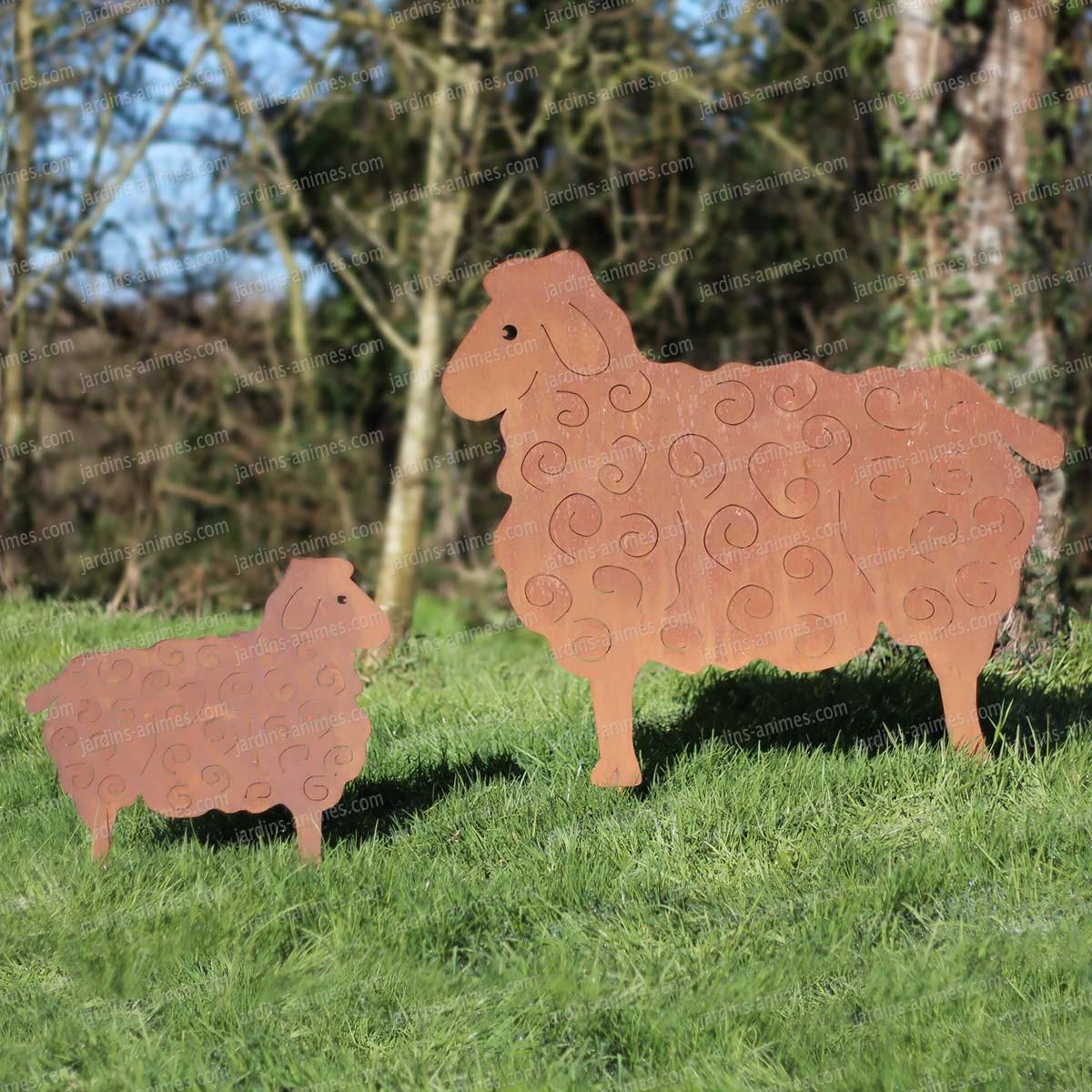 Silhouette mouton au choix d co de jardin en m tal - Animaux de jardin decoration ...