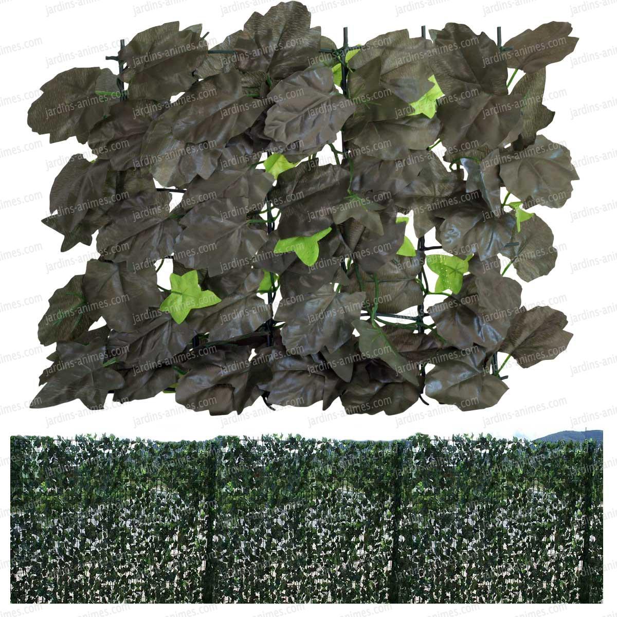 Haie artificielle feuilles de lierre duo cloture for Haie artificielle lierre