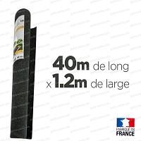 Feutre de culture 40m long. x 1.2m de large, 100% recyclé