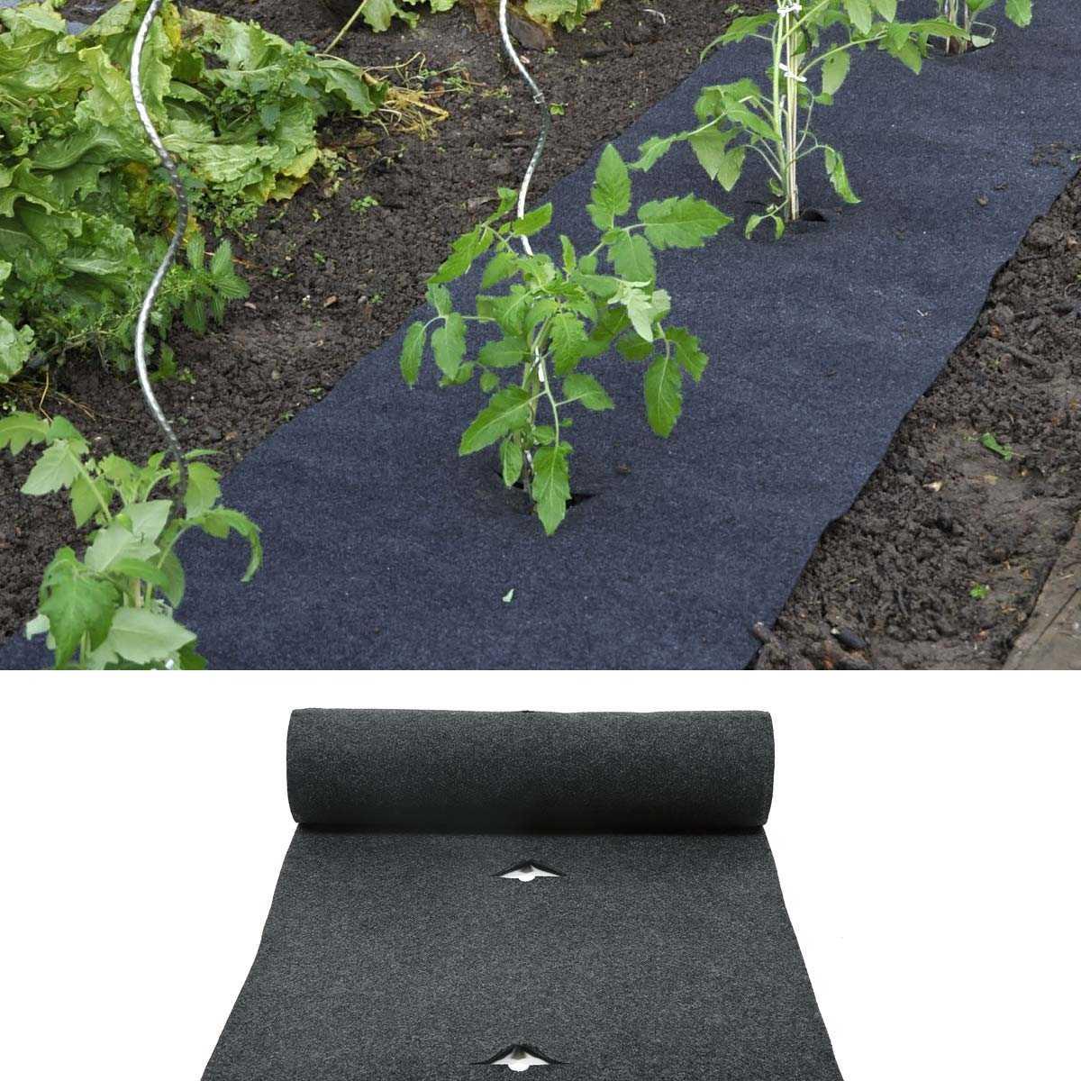 Comment Fixer Une Tonnelle Sans Percer feutre de culture pour tomates et fraisiers pré percé 5m x 60cm