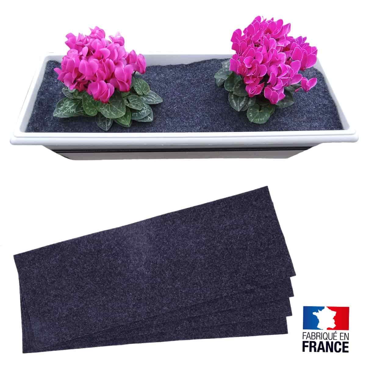feutre de d cor anti mauvaise herbe pour jardini re lot de 4 pots de fleurs jardini res. Black Bedroom Furniture Sets. Home Design Ideas