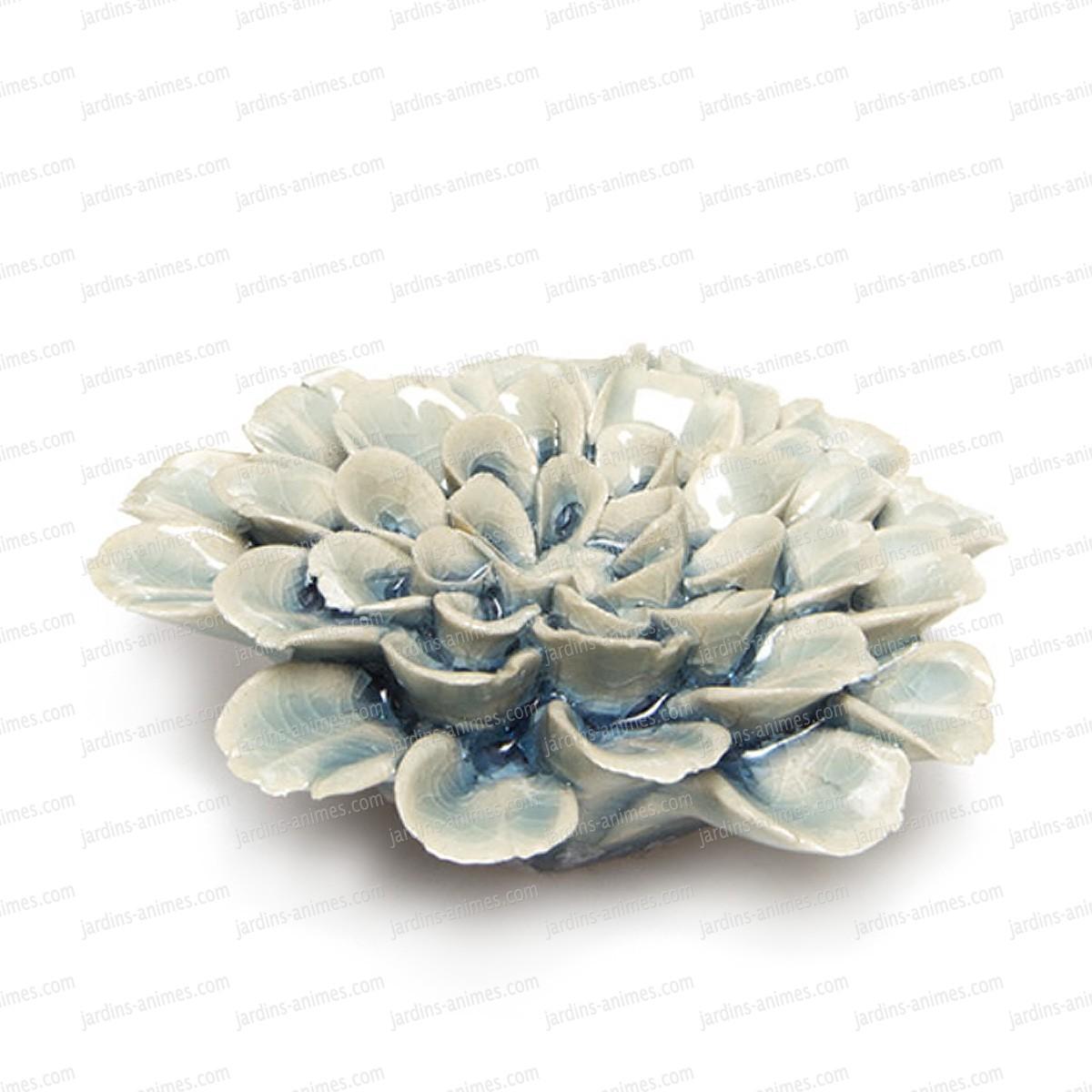 fleur corail en c ramique poser bleu figurines d coratives. Black Bedroom Furniture Sets. Home Design Ideas