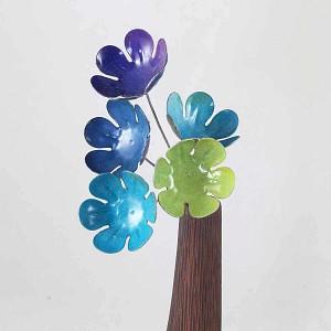 WENTS Lot de 9 Pots de Fleurs Miniatures en r/ésine Motif h/érisson et Champignon