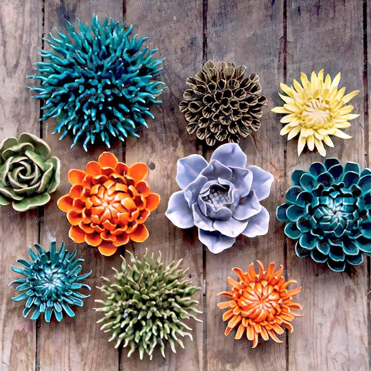 Fleur corail décorative en céramique - Figurines décoratives