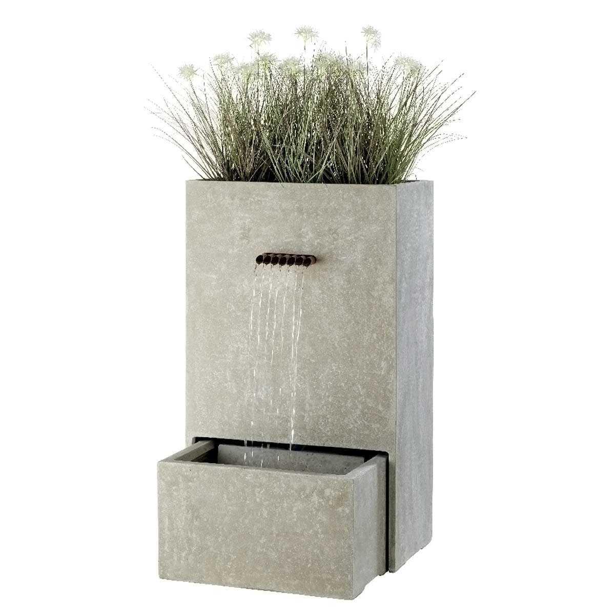 Faire Une Cascade Sans Pompe fontaine cascade rectangulaire avec jardini�re