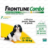 Frontline Combo pour chien de 2 à 10kg - 4 pipettes