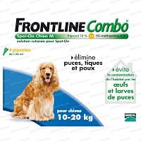 Frontline Combo pour chien de 10 à 20kg - 4 pipettes