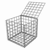Gabion - cage métallique L. 50cm x larg. 50cm x h. 50cm